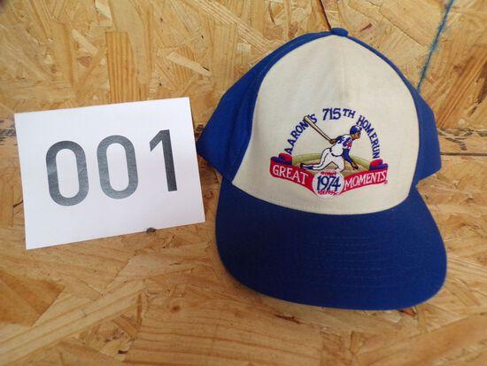 Hank Aaron 715th Homerun 1974 Hat