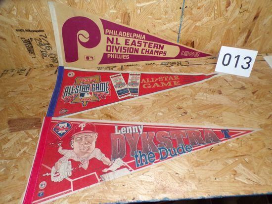 3 Philadelphia Phillies pennants