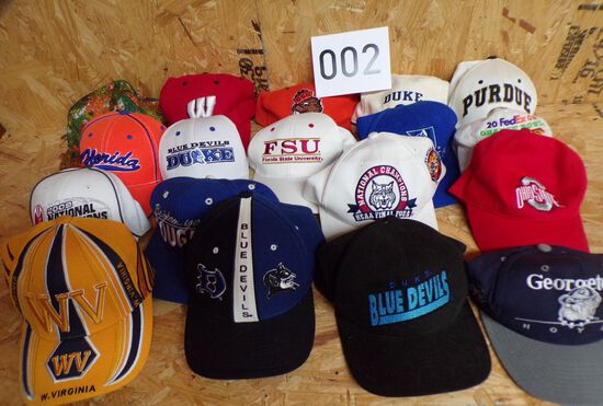 Lot of 18 Vintage NCAA College Sports Hats