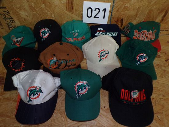 12 Miami Dolphins hats