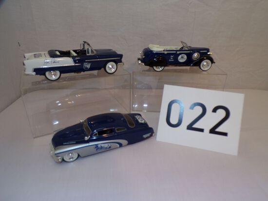 3 Penn State toy cars/trucks