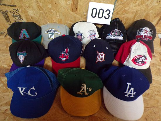 Lot of 12 MLB hats