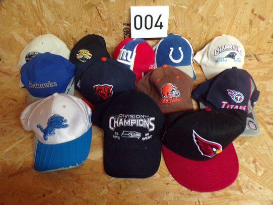 12 NFL hats