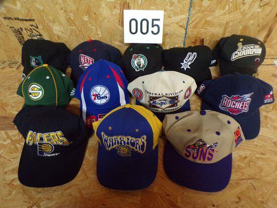 12 NBA hats