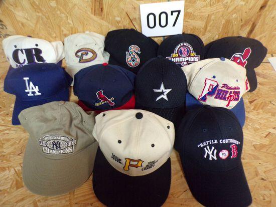 12 MLB Hats