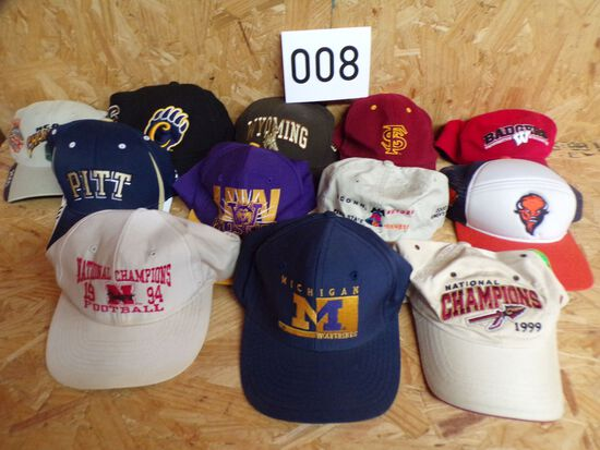 12 College Hats