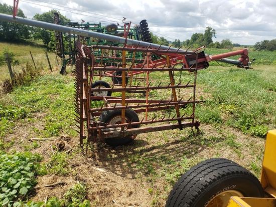 4 Section Harrow & Cart