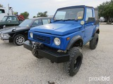 1988 Suzuki Samurai Vin # Js4jc51c6j4273162 Appx 21,905 Miles (title On Hand And Will Be Mailed Wit