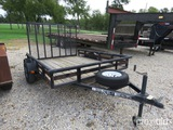 6' X 8' Carry-on Lowboy Trailer Vin # 4ymul0817ct016279 (mso On Hand And Will Be Mailed Within 14 Da