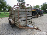 10' X 5' Cattle Trailer (reg Paper On Hand And Will Be Mailed Within 14 Days After The Auction)