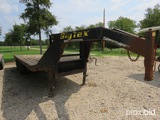 2001 Big Tex 20' Gooseneck Tandem Dual Trailer Vin # 4k8gx202111674493 (title On Hand And Will Be Ma