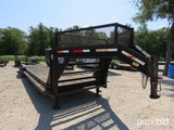 2007 32' Lowboy Goosneck Trailer Vin # 5rvgn36287m000296 (title On Hand And Will Be Mailed Within 1