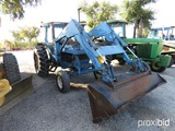FORD 7700 TRACTOR W/ FORD 7412 LOADER (SERIAL # 570L17) (SHOWING APPPX 6,908 HOURS)