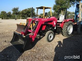 MAHINDRA 4540 TRACTOR W/ MAHINDRA 4550-2L LOADER (SHOWING APPX 17 HOURS) (SERIAL # MBCNY3030)