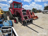 MF 1085 TRACTOR W/ GREAT BEND 440 LOADER (SERIAL # 9B76027) (SHOWING APPX 4,788 HOURS)
