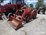 KUBOTA L2500 TRACTOR W/ KUBOTA LB400 LOADER (SHOWING APPX 1,165 HOURS) (SERIAL # 53652) GIVE MANUAL
