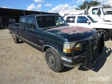 1993 FORD F350 PICKUP (NOT RUNNING) (UNKNOWN MILES) (VIN # 2FTJW35C4PCB26811) (TITLE ON HAND AND WIL