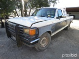 1991 FORD F250 (DIESEL) (SHOWING APPX 96,519 MILES) (VIN # 1FTHX25M0MKA16263) (TITLE ON HAND AND WIL