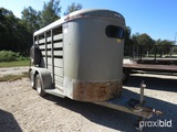 1999 5' X 12'  CATTLE TRAILER (VIN # 140FB12C3YA039869) (MSO ON HAND AND WILL BE MAILED CERTIFIED WI