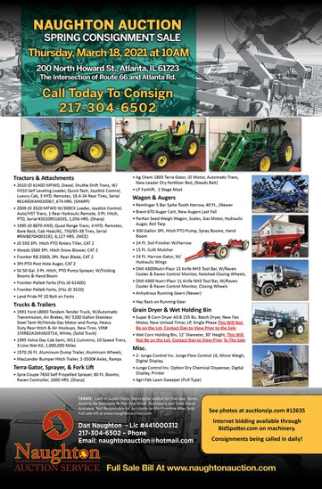 Naughton Auction Annual Spring Consignment Sale