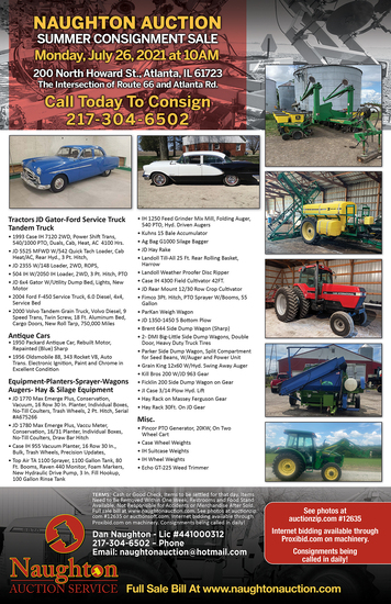 Naughton Auction Annual Summer Consignment Auction