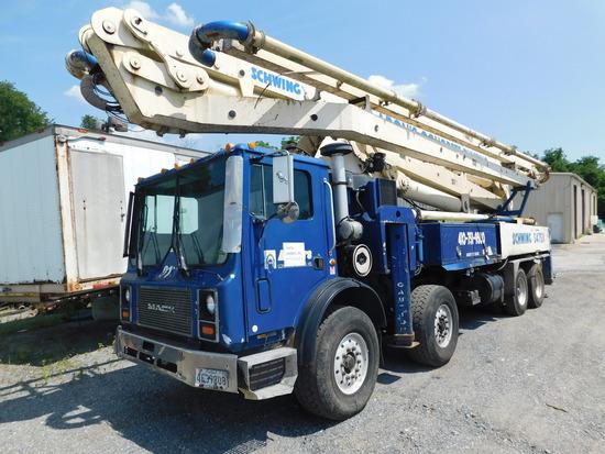 2006 Mack MR688S w. Schwing 2525 H-5/S47sx Concrete Pump Truck