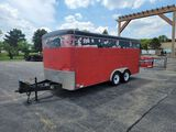 2000 United Express 7' x 16'  Enclosed Trailer