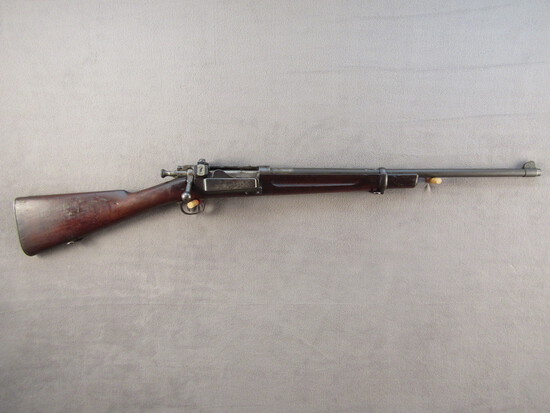 antique: SPRINGFIELD ARMORY MODEL 1898 KRAG RIFLE, 30-40CAL BOLT ACTION RIFLE, S#127262