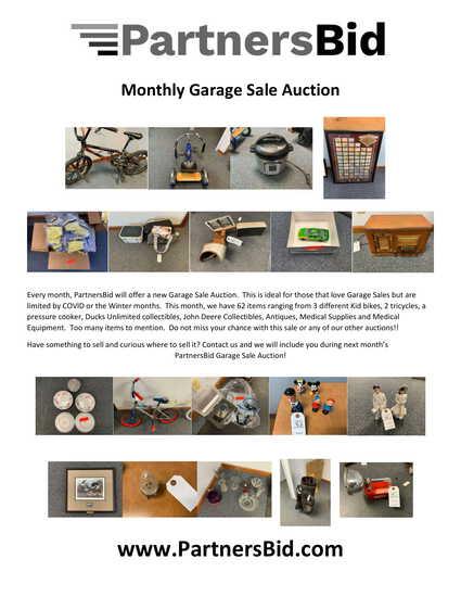 December Garage Sale Auction
