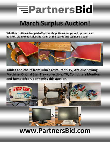 March Surplus Auction