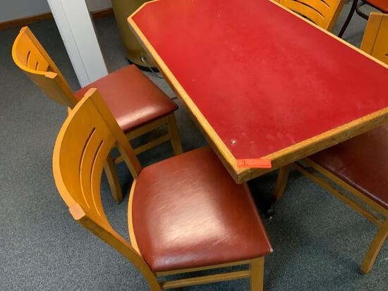 Restaurant table and four chairs from Omaha famous Julio's