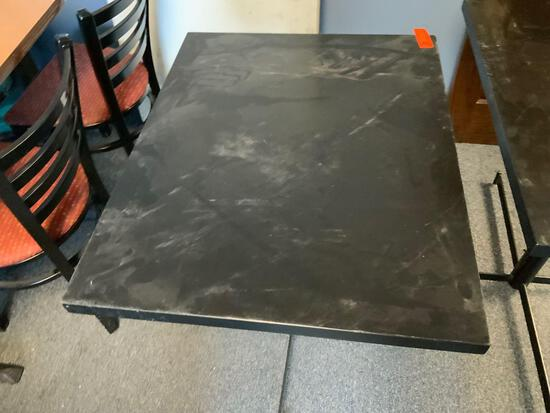 black table from Julio's restaurant