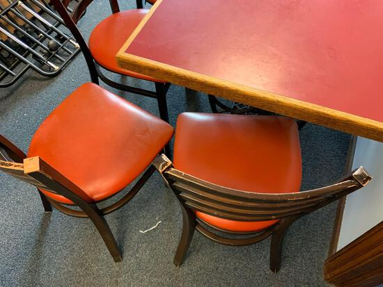Omaha Famous Julio's table with antique sewing stand with four chairs