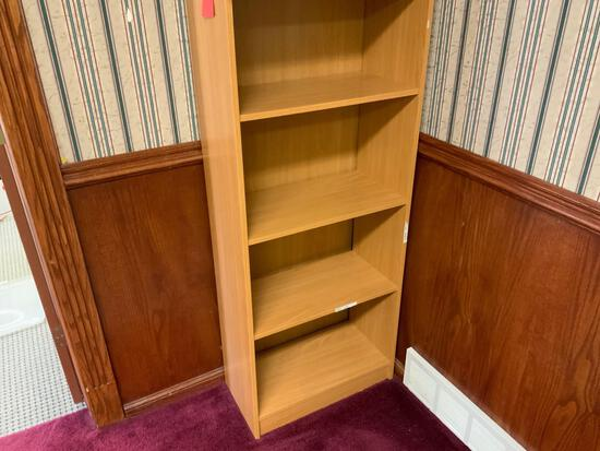 4 shelf wood shelf Pickup will be on Monday 3/29 from 1-6 pm at 1324 S. 119th Street. All items sold