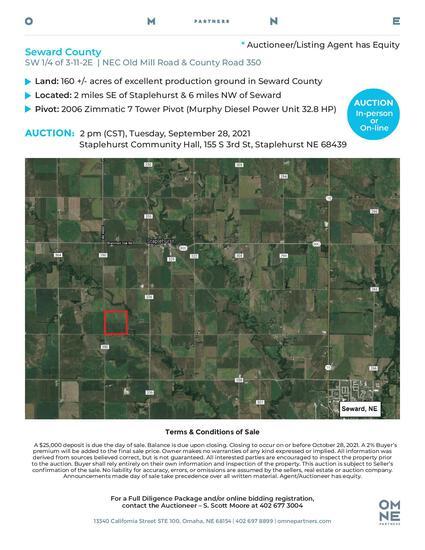 Seward County Farm Auction