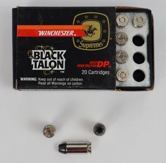 1 Box Winchester Black Talon 10mm Pistol Ammo