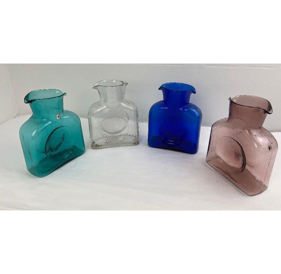 Lot Of 4 Blenko Glass Water Bottles