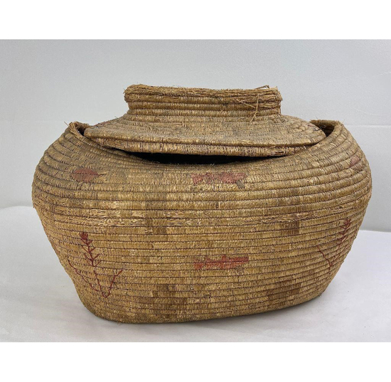 Quinault Native American Indian Pictorial Basket