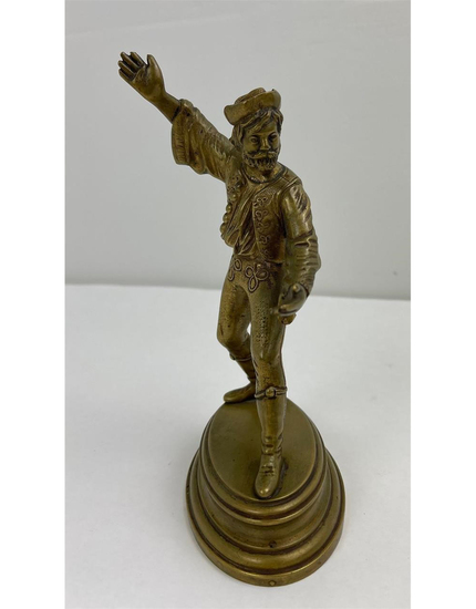 Antique Pompeian Bronze Bard Sculpture