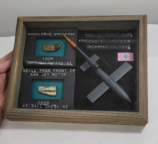 Ww2 Nazi German V1 Robot Bomb Fragments 1944