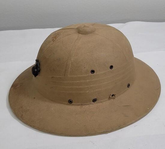 Ww2 Us Marine Corps Tropical Pith Helmet