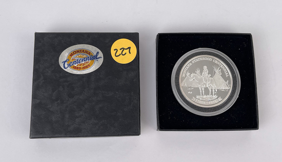 Montana Statehood Centennial Silver Coin