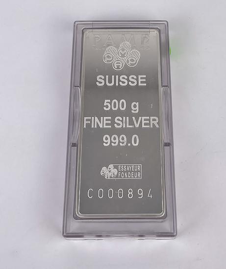 Pamp Suisse 500 Gram Silver Bar