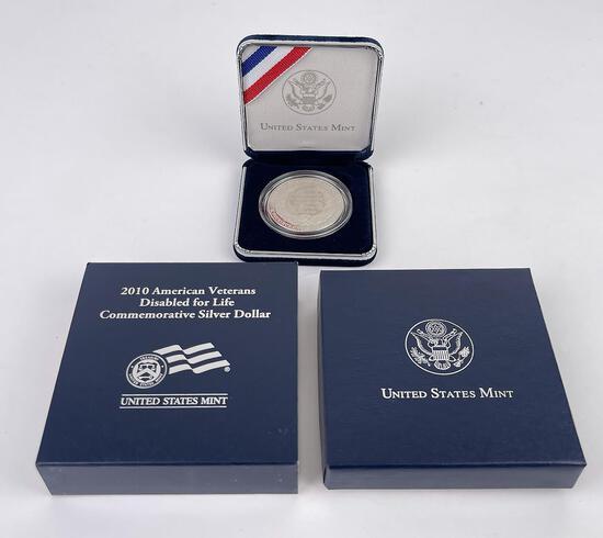 2010 American Veterans Silver Dollar Round