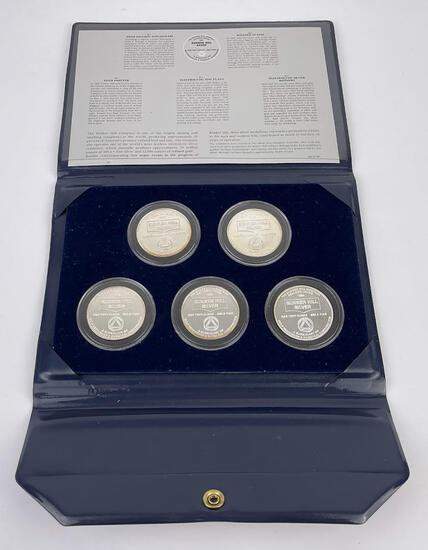 1982 The Bunker Hill Company Silver Medallion Set