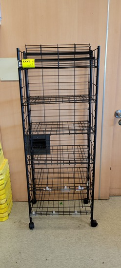 WIRE RACK FIXTURE 25 X 19 X 65 WITH 6 SHELVES