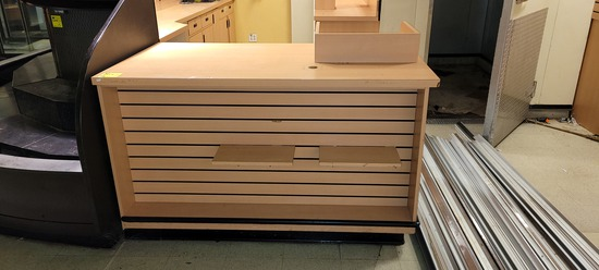 MILLWORK FLORAL 5' X 3' REGISTER COUNTER
