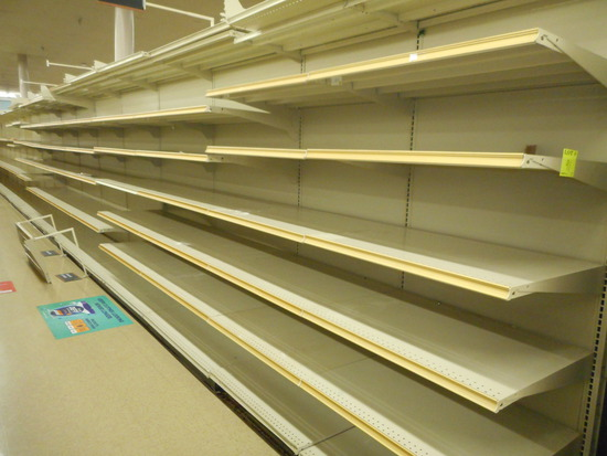 "SHELVING 1-SIDED 74"" TALL 20 DEEP BEIGE"
