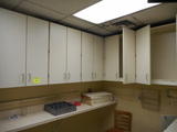 WALL CABINETS & 2 OFFICE COUNTERS