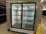 FROZEN FOOD GLASS 2 DOOR END CAP - HOT GAS DEF